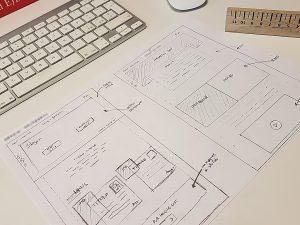 prototipazione sito web carta
